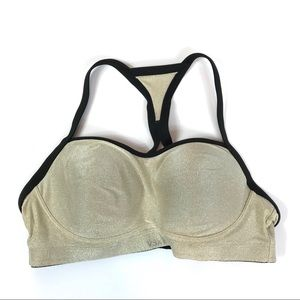 Victoria's Secret VSX Sport Gold Shimmer Bra